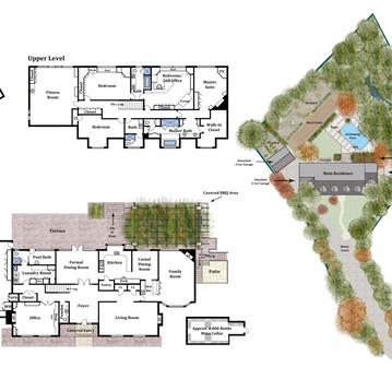 Simple Floor Plan w/ Site Plan