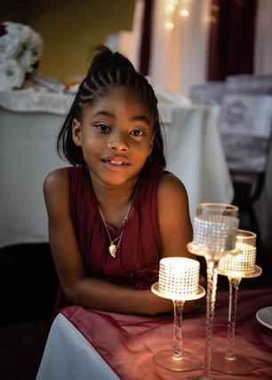 Candle light flower girl