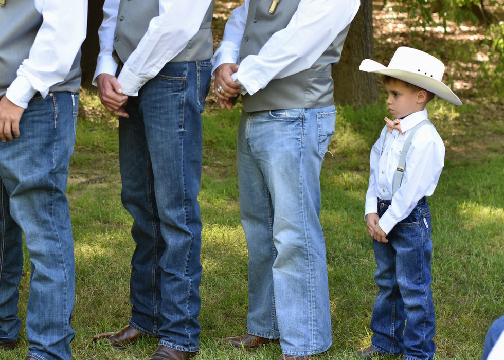 The Little Cowboy at the Big Wedding