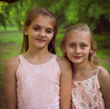 Wedding Portrait little girls