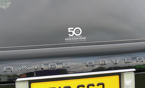 RRO 50th Anniversary Window Decal