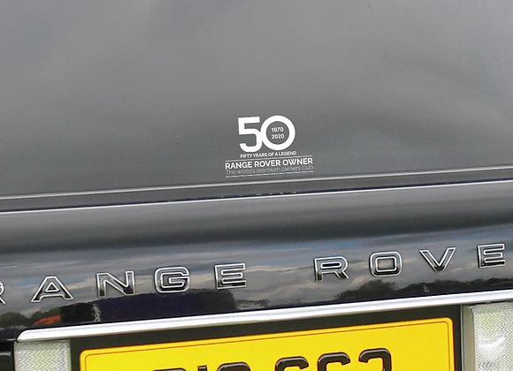 RRO 50th Anniversary Window Sticker