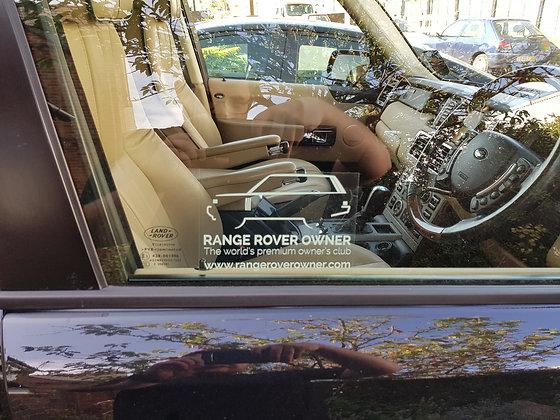 Range Rover L322 Window Sticker (Internal)