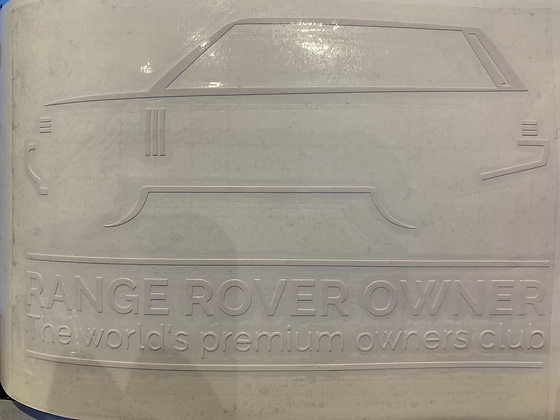 Range Rover L322 Window Decal (With Club Text - External)
