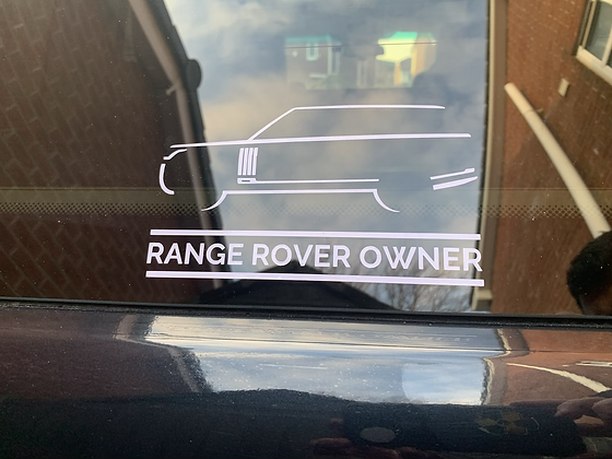 Range Rover L405 Window Decal (External)