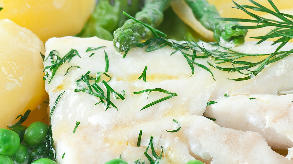 Wednesday 28th July -  Poached Fish & Parsley Sauce