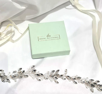 dm bridal accessories hair vine wedding