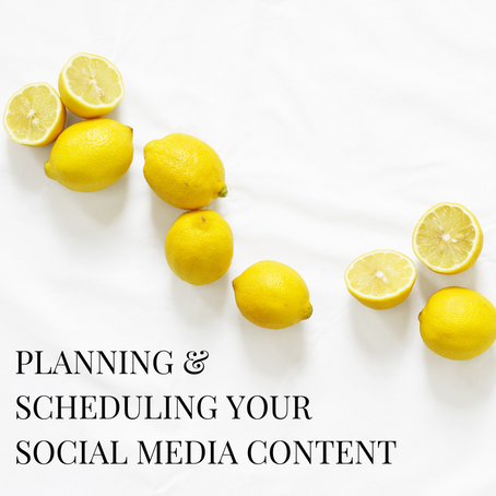 Planning & Scheduling your Social Media Content