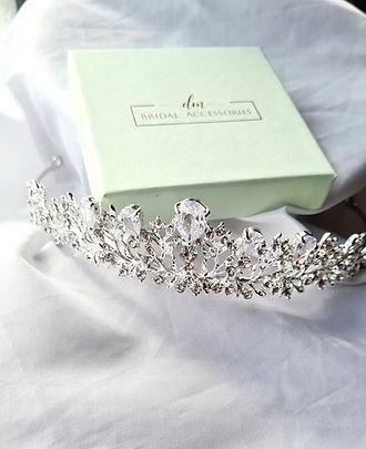 dm bridal accessories wedding day tiara hair