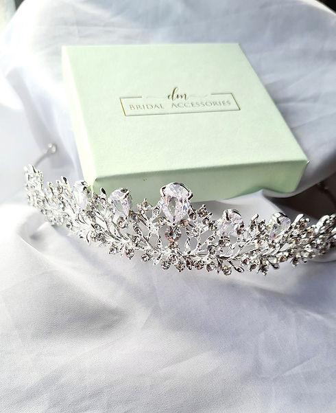 dm bridal accessories tiara hair wedding day