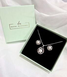 dm bridal accessories bridal pendant earrings