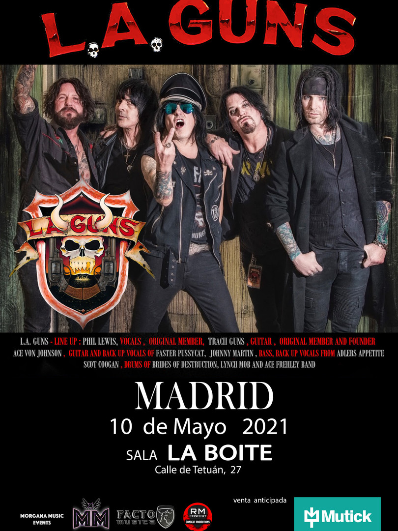 L.A. Guns en Madrid Aforo reducido