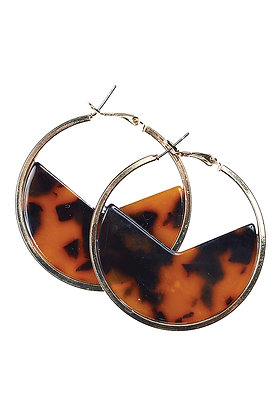 BAROSSA HOOP EARRINGS -Caramel