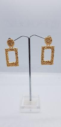 Rectangle Crinkle Earings