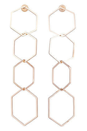 PROVENCE HEX EARRING -Gold
