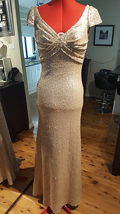 One of a kind Sequin Gown size 8