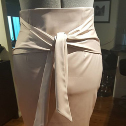 High waisted tie front skirt
