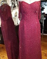Burgandy Beaded Gown