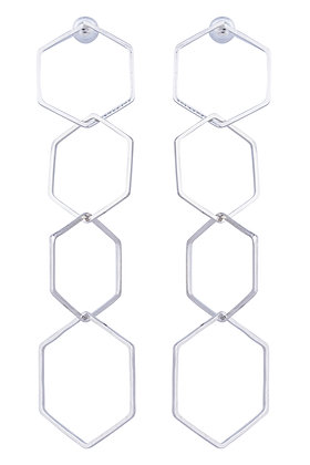 PROVENCE HEX EARRING - Silver