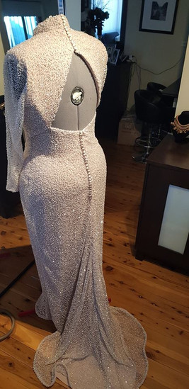 Mother of the Groom White Beaded Gown