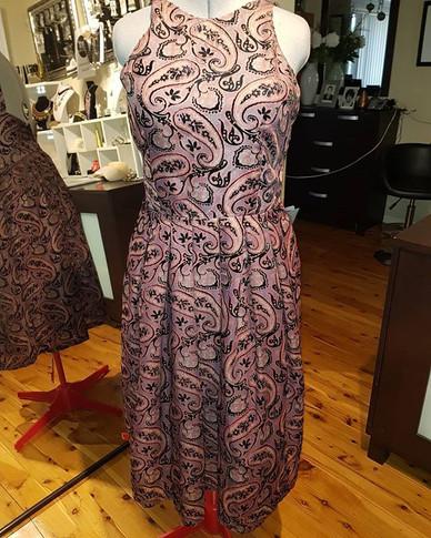 Leaghla Burnt Velvet Dress