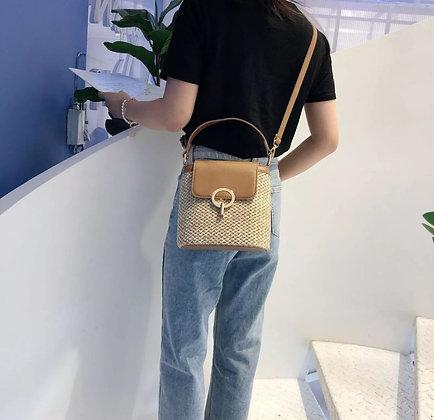 Bohemian Straw Bag -Brown