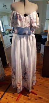 Printed Silk Floral Skirt & Top