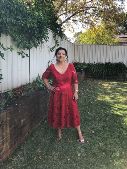Red Guipure Lace Dress