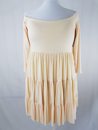 Off The Shoulder Baby Doll Ruffled Dress
