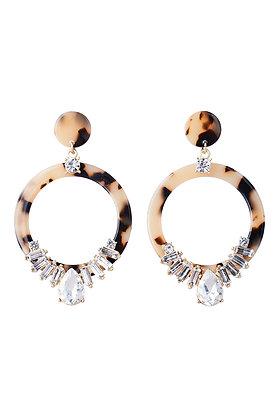 BODEGA CRYSTAL EARRING - Marble