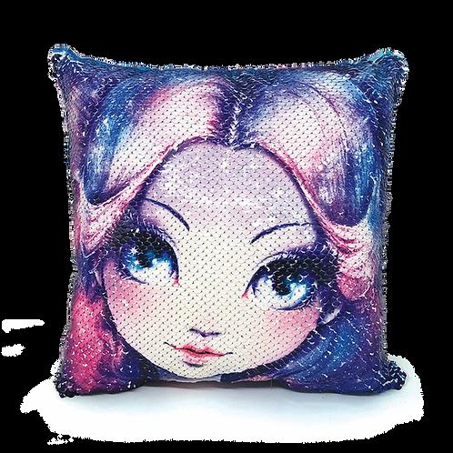 Magic Sequin Cushion - Nebulia
