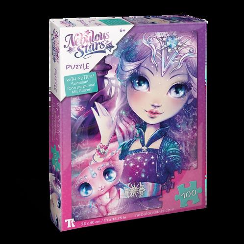 Glitter Puzzle 100 pcs - Nebulia & Stella
