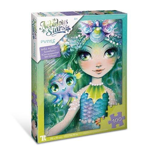 Glitter Puzzles 100 pcs - Marinia & Octavia