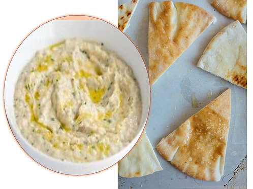 Baba Ghanoush on Pita