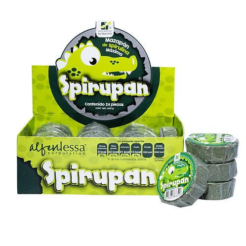 Spirupan (mazapan de spirulina maxima organica y cacahuate)