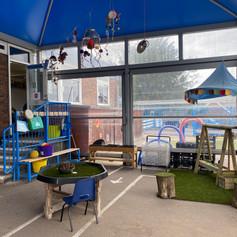 Outdoor play at Noah's Ark Nursery at The Lea