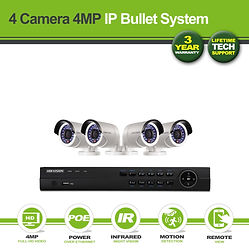 Hikvision 4 Camera 4MP Darkfighter Bulle