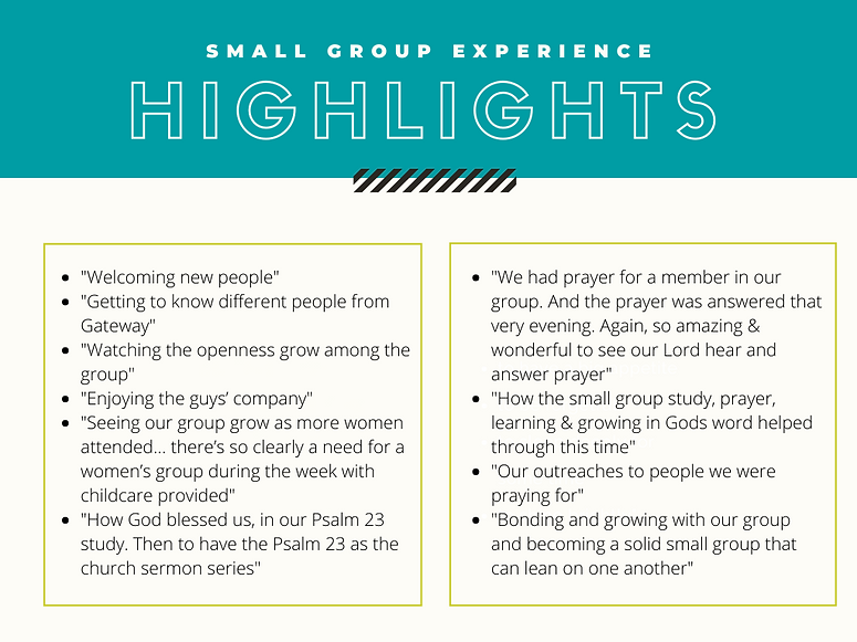 annual report - small group highlights-2