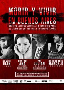 AFICHE MORIR Y VIVIR EN BUENOS AIRES (2)
