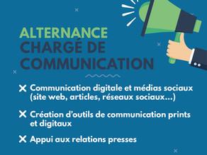 [Ouvert] Contrat en alternance - Chargé(e) de communication