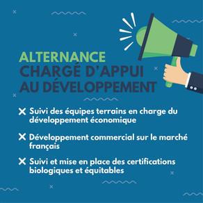 [Pourvu] Contrat en Alternance - Chargé(e) d'appui au développement économique