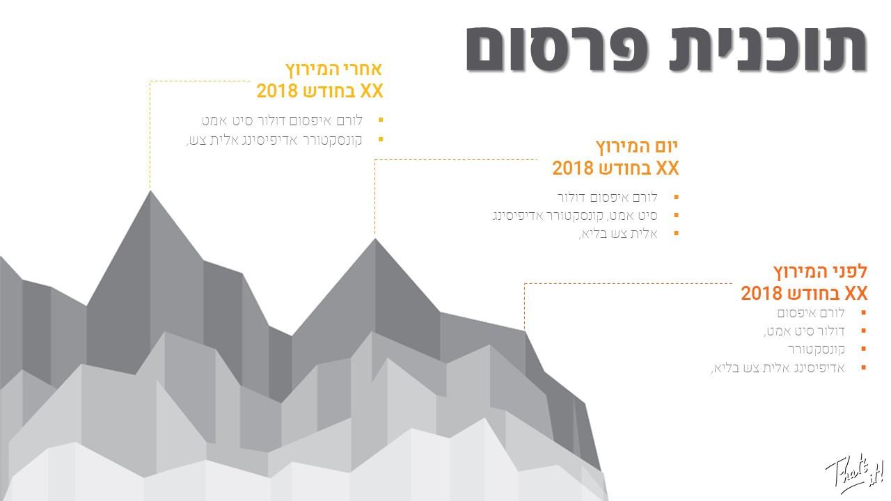 Marathon presentation design - timeline slide