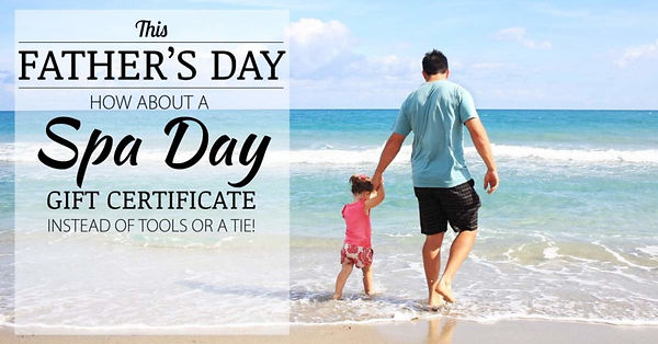 FathersDay Gift Certificate, Fathers Day facial, Mens skin care, fathers day gift