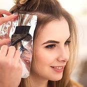 Highligts, summer hair color, hair foils, hair salon, hair stylist,