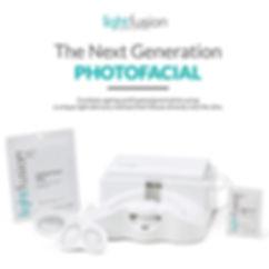 lightfusion facial, photo facial, light fusion, LED Facial, brightening facial. anti-aging facial