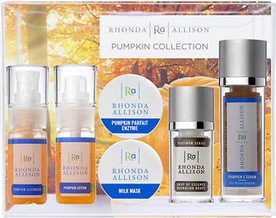 Pumpkin Collection, pumpkin kincare, rhonda allison skin care, fall facials,brightening kits, pigmentation facials