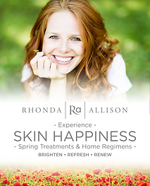 Rhonda Allison, spring facials, spring rejuvenation series, facials, brigtening facials, seasonal facials, anti-aging facials
