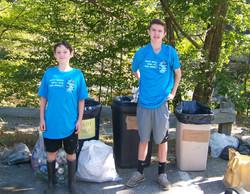 Two boys and trash