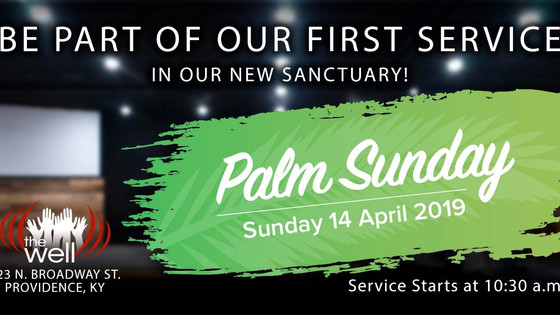 1st Service in Our New Sanctuary Announced