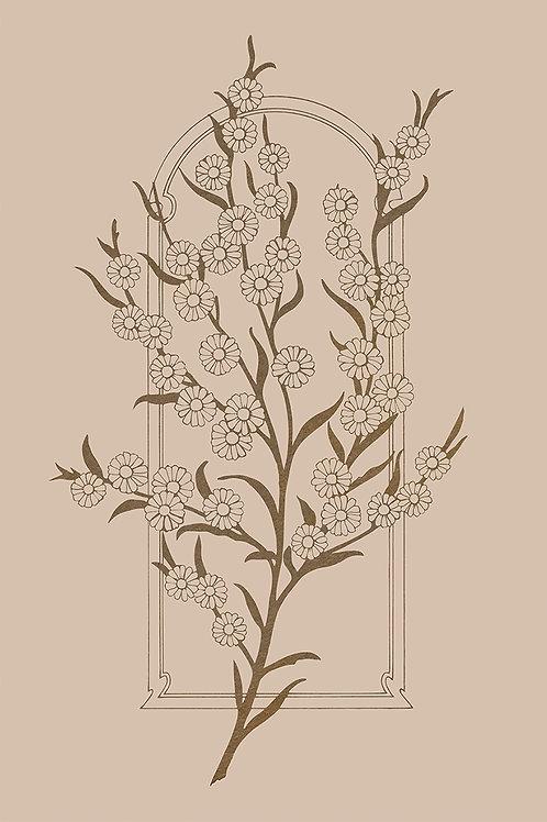 FLOWER WALL BEIGE